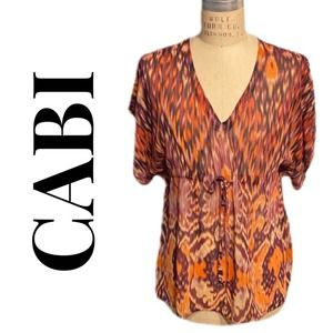 CABI BABY DOLL BLOUSE